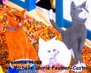 Detail of Welcome Home by Michelle Lorrie Feulner-Castro copyright 2003